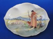 Royal Doulton 'Cotswold Shepherd' Series Ware Clover Leaf Tray D5561 c1937